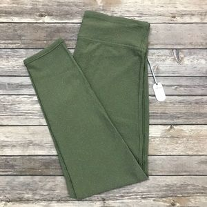 Aerie Sparkle Crop Leggings in Olive